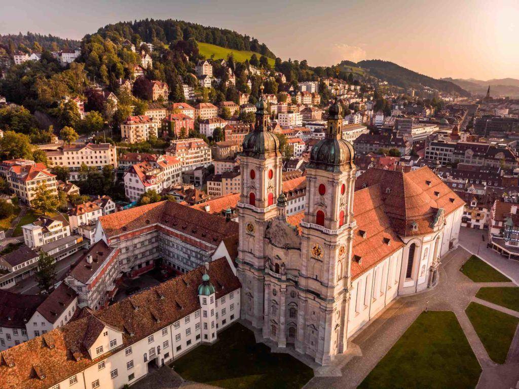 Blick auf Stadt St. Gallen Schweiz
