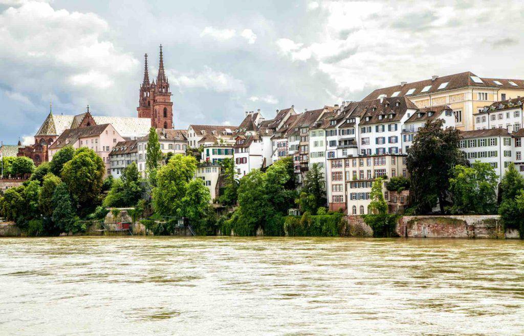 Blick über Stadt Basel