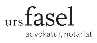 Logo Advokatur Notariat Dr. Urs Fasel