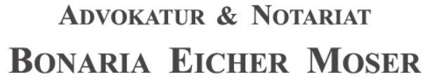 Logo Advokatur und Notariat Bonaria Eicher Moser