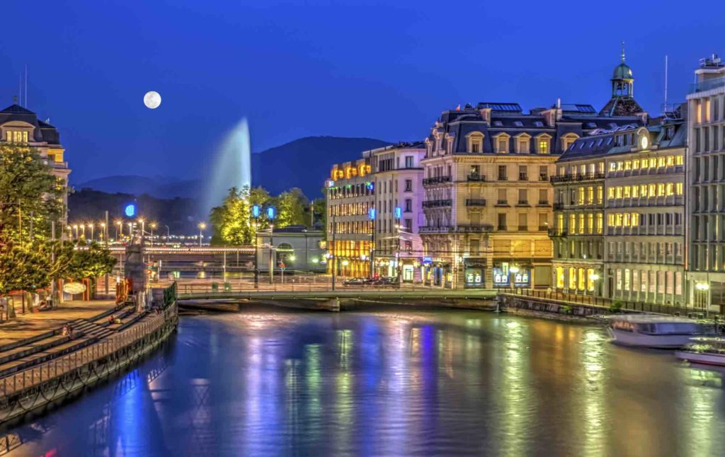 Blick auf die Stadt Genf in der Schweiz